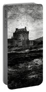 Eilean Donan Castle In Scotland Bw Portable Battery Charger by RicardMN Photography