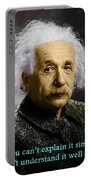 Einstein Explanation Portable Battery Charger