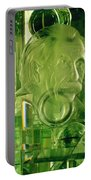 Einstein In Crystal - Green Portable Battery Charger