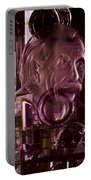 Einstein In Crystal - Purple Portable Battery Charger by Christi Kraft