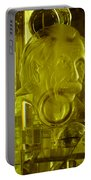 Einstein In Crystal - Yellow Portable Battery Charger