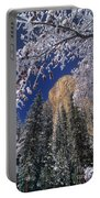 El Capitan Framed By Snow Covered Black Oaks California Portable Battery Charger