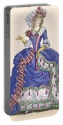 Elaborate Court Dress In Electric Blue Portable Battery Charger