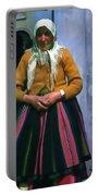 Elderly Woman Stylized Digital Art Portable Battery Charger
