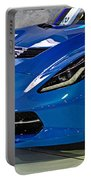 Electric Blue Corvette Portable Battery Charger