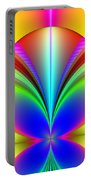 Electric Rainbow Orb Fractal Portable Battery Charger