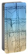 Electricity Pylons Standing In A Row Portable Battery Charger