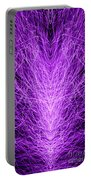 Electrostatic Purple Portable Battery Charger