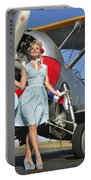 Elegant 1940s Style Pin-up Girl Portable Battery Charger