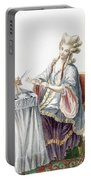 Elegant Lady At Her Dressing Table Portable Battery Charger by Pierre Thomas Le Clerc