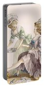 Elegant Lady Having Her Feet Washed Portable Battery Charger