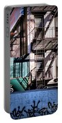 Elemental City - Fire Escape Graffiti Brownstone Portable Battery Charger