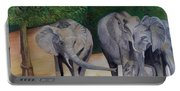 Elephant Family Gathering Portable Battery Charger