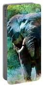 Elephant - Featured In Comfortable Art- Wildlife- And Nature Wildlife Groups Portable Battery Charger