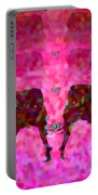 Elephant Impressions In Magenta Portable Battery Charger