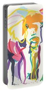 Elephant In Color Ecru Portable Battery Charger