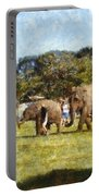 Elephant Train  Portable Battery Charger