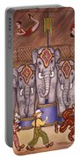 Elephants And Acrobats Portable Battery Charger