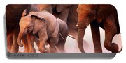Elephants Stampede Portable Battery Charger