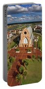 Elevated View Of Ave Maria Oratory Portable Battery Charger
