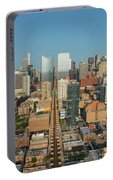 Elevated View Of Cityscape, Lake Street Portable Battery Charger