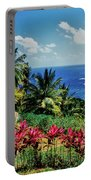 Elevated View Of Trees And Plants Portable Battery Charger