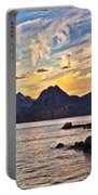 Elgol Beach At Sunset Portable Battery Charger