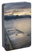Elgol Pier And Boats With Cuillin Portable Battery Charger