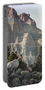 Elk At Cathedral Rock Portable Battery Charger