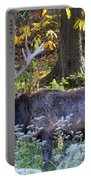 Elk In Autumn Meadow Portable Battery Charger