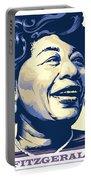 Ella Fitzgerald Portrait Portable Battery Charger