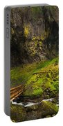 Elowah Falls Panorama -  Columbia River Gorge In Oregon Portable Battery Charger