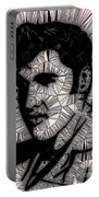 Elvis In Black And White  Portable Battery Charger