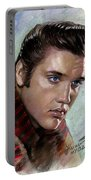 Elvis King Of Rock And Roll Portable Battery Charger