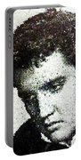 Elvis Love Me Tender Mosaic Portable Battery Charger