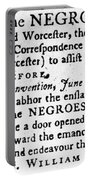 Emancipation Notice, 1775 Portable Battery Charger