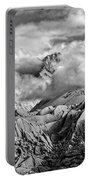 Embraced By Clouds Black And White Portable Battery Charger
