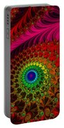 Embroidered Silk And Beaded Square Portable Battery Charger