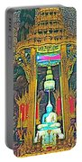 Emerald Buddha In Royal Temple At Grand Palace Of Thailand Portable Battery Charger