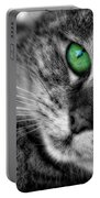 Emerald Eyes Cat  Portable Battery Charger