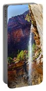 Emerald Pools Trail Waterfall - Zion Portable Battery Charger