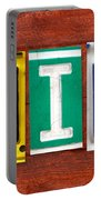 Emily License Plate Name Sign Fun Kid Room Decor Portable Battery Charger