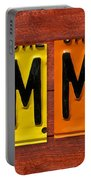 Emma License Plate Name Sign Fun Kid Room Decor Portable Battery Charger