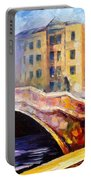 Emotional Autumn - Palette Knife Oil Painting On Canvas By Leonid Afremov Portable Battery Charger