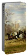 Emperor Franz Joseph I Of Austria Hunting To Hounds With The Countess Larisch In Silesia Portable Battery Charger
