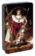 Emperor Napoleon I On His Imperial Throne Portable Battery Charger