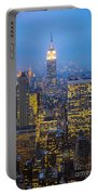 Empire State Building And Midtown Manhattan Portable Battery Charger