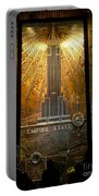 Empire State Building - Magnificent Lobby Portable Battery Charger