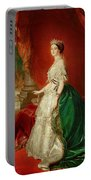 Empress Eugenie Of France 1826-1920 Wife Of Napoleon Bonaparte IIi 1808-73 Oil On Canvas Portable Battery Charger