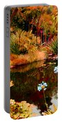Enchaned Blue Lily Pond Portable Battery Charger
